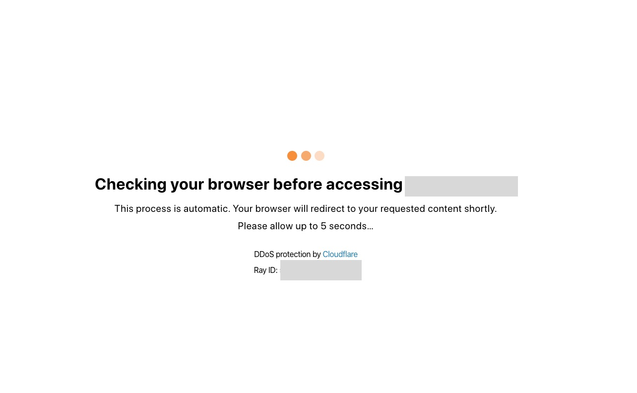 Checking your browser before accessing